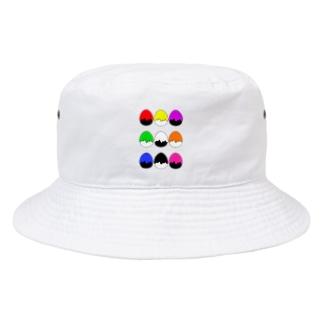たまご型にペンキかかった(9色) Bucket Hat