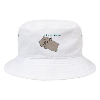 目薬のフタをくれるウォンバット Bucket Hat