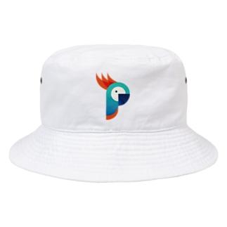 ロゴっぽいオウム Bucket Hat
