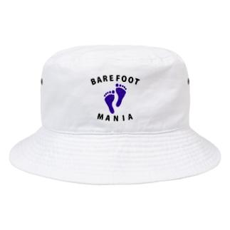マラソンランナー専用デザイン「ベアフットマニア」 Bucket Hat