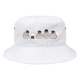 桜文鳥とおにぎり Bucket Hat