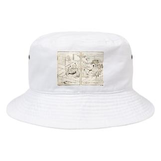 夢応の鯉魚(裏写り低減版)L Bucket Hat
