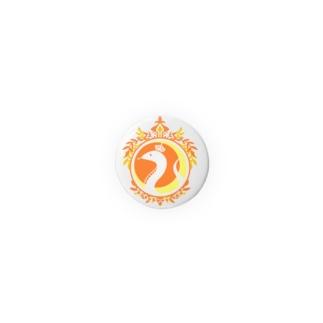 ことばの丘 缶バッジ(32mm) オレンジ Badges