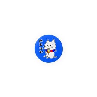青と赤のサポーターねこさん。はむはむバッチ Badges