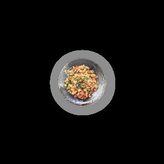 ベジタリアンタイ料理*ニコニコレストランのお店のタイ風チャーハン缶バッチ Badges