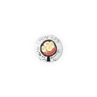 缶バッチ(目玉焼き) Badges