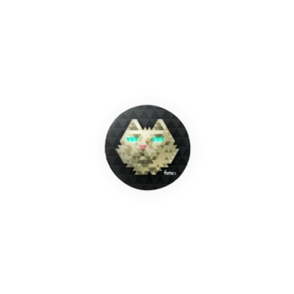 Serious cat Badges