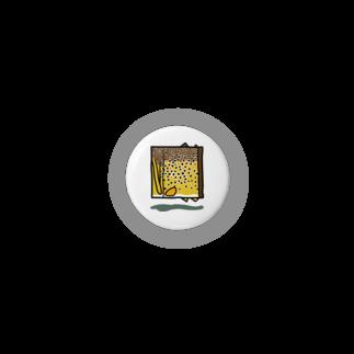 岩間創作室の四角いブラウントラウト Badges