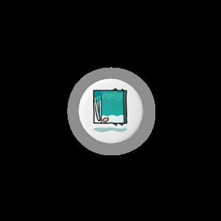 岩間創作室の四角いミヤベイワナ Badges