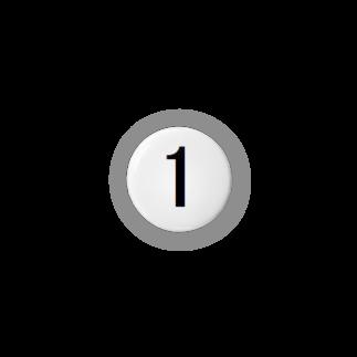 アメリカン★ベースの背番号 1 Badges