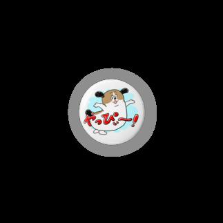 マツバラのもじゃまるやっぴぃー! 水色 Badges