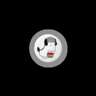 マツバラのもじゃまるお見舞い 白黒 Badges