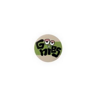 Goonies 丸カーキ32mm Badges