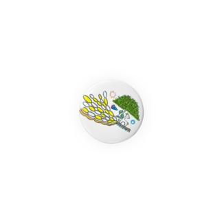 楽園の住人(シカとヘビ)な缶バッジ・32mm Badges
