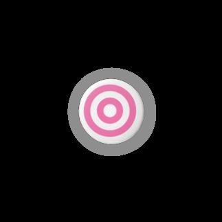 sai3254の蛇の目(ピンク) Badges