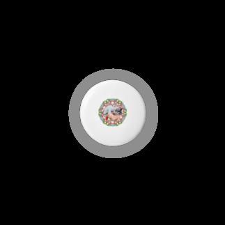保護猫カフェ「駒猫」さん家のNo.4 イチゴちゃん♪ Badges