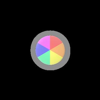 御野小窓の明るみの虹色 Badges