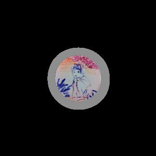 fuffu_dazoの隠れてる少女(イラスト 絵の具 女の子)ふっふ Badges