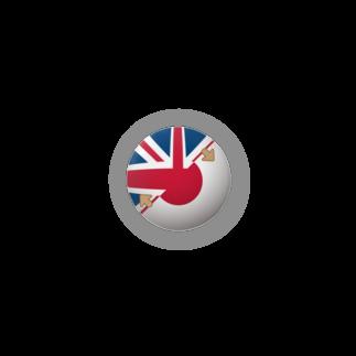 当事者メディカルアートの「英語話せます」缶バッジ(イギリス・日本国旗) Badges