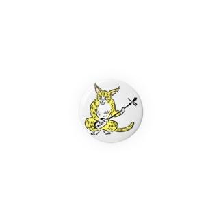 大津絵・猫に三味線 Badges