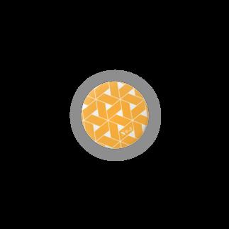 ひつじの単色こんぺいとう・オレンジ01 Badges