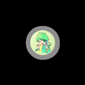 チョま└(•💚•)┘のチョまくん缶バッチ Badges