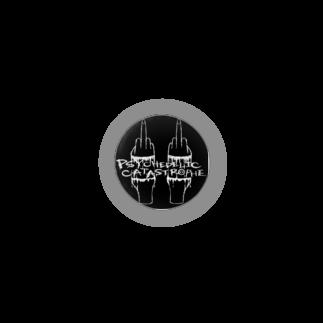PSYCHEDELIC CATASTROPHE のサイカタロゴ 黒B Badges