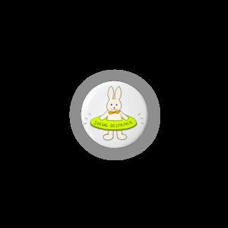 Cocomarronのソーシャルディスタンスうさぎ Badges