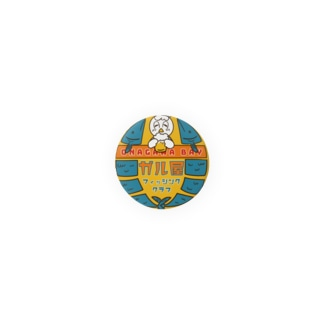 レトロ風ガル屋釣部 缶バッチ Badges