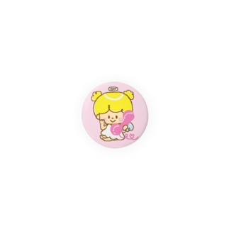 天使(電話)の缶バッジ Badges