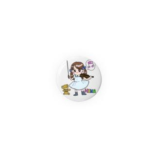 ひなちゃんルーム オリジナルアバター3号 缶バッジ(32mm用) Badges