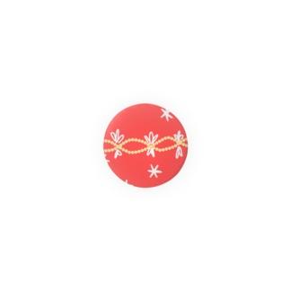 オーナメントっぽいやつ(キラキラ赤) Badges
