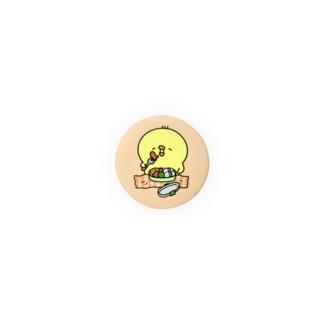 お弁当ひよこ 缶バッジ Badge