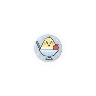 オカメごおり(ブルー)【32mm】 Badges