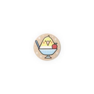 オカメごおり(ブラウン)【32mm】 Badges