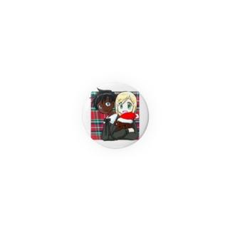 黒白クリスマス 缶バッジ