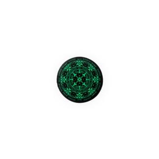 猫召喚魔法陣(緑) 缶バッジ