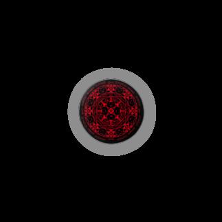 PygmyCat suzuri店の猫召喚魔法陣(赤) Badges