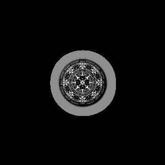 PygmyCat suzuri店の猫召喚魔法陣(白) Badges
