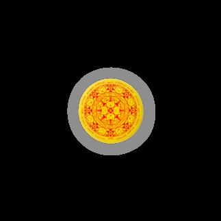 PygmyCat suzuri店の猫召喚魔法陣(黄色) 缶バッジ