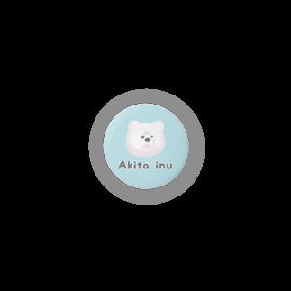 『レモンのれ』SUZURI店の【缶バッジ】秋田犬 缶バッジ