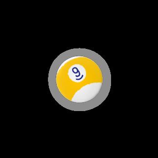 (仮)の缶バッジ ナインボール(黄) Badges