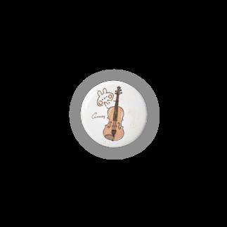 *momochy shop*のヴァイオリンとうさぎ 缶バッジ