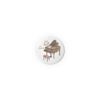 *momochy shop*のピアノとうさぎ Badges