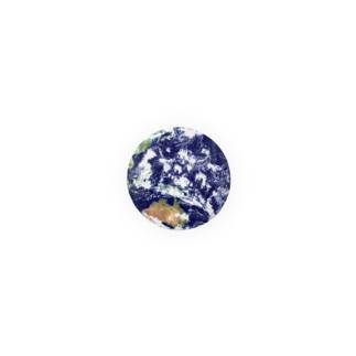 地球 缶バッジ