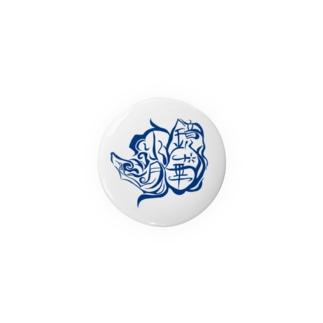 【ウェブ限定】鏡華水月公式ロゴ入りグッズ【青】 Badges