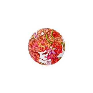 "「百歳」Series * RosedGirl""薔薇江戸娘"" color Badges"