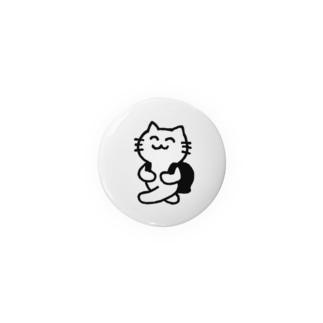 メモちゃん(白) 缶バッジ