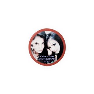 Caiya&Erina's ラブリーミニ缶バッチ☆パッション・レッド Badges