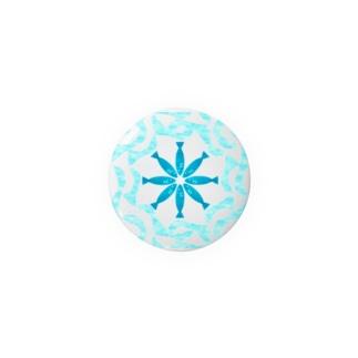 ハワイアンキルト風   魚の模様 Badges